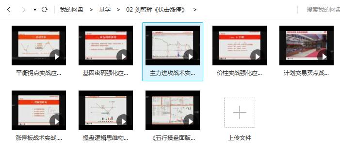 【刘智辉】量学云讲堂 《伏击涨停》视频教程(8视频)