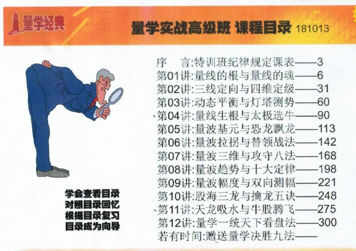 【黑马王子】T43期量学实战高级特训班视频资料(28视频+12讲义)