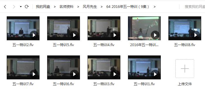 【月风先生】2016年五一机构实战特训(9集)视频