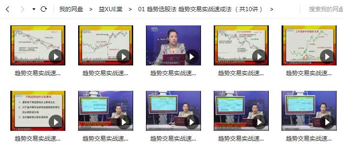 【张翠霞】趋势选股法 趋势交易实战速成法 (共10节)
