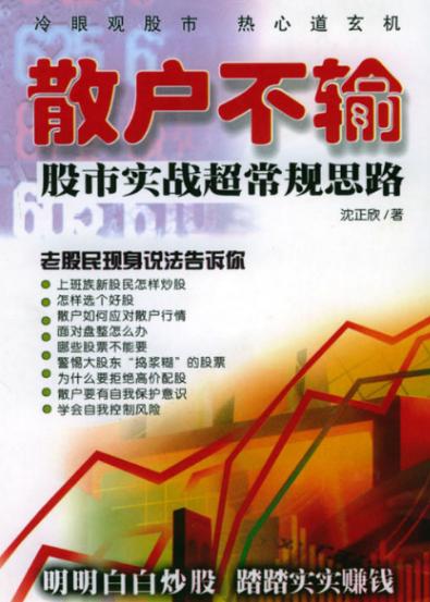 散户不输:股市实战超常规思路PDF电子书下载沈正欣著