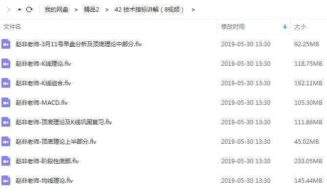 【赵非老师】技术指标培训视频教程(8节)