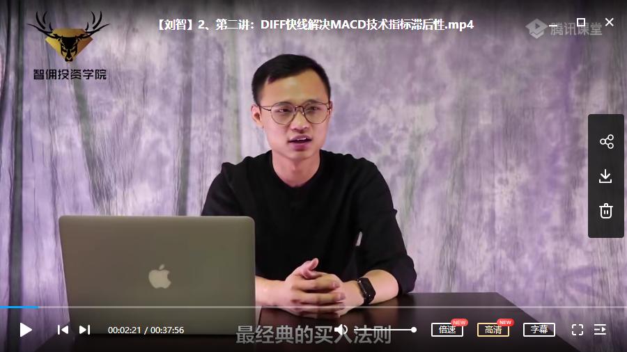 【刘智】股票MACD信号思维六堂课视频培训教学