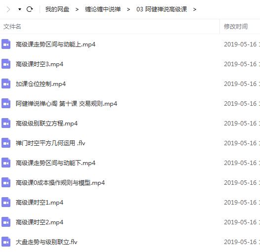 【阿健禅说】高级课程 11视频教程