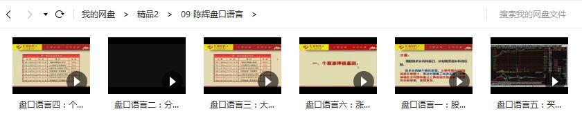 陈辉盘口语言视频课程(6节)