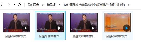 谭雅玲 金融海啸中的货币战争视频培训 (共4节)