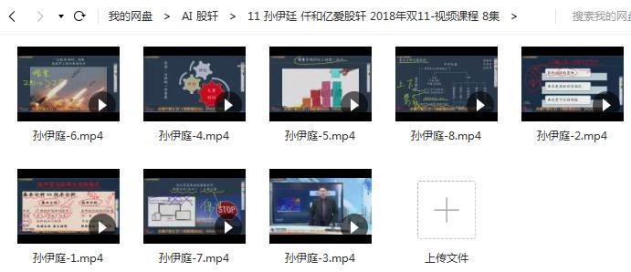 【孙伊廷】 双十一课线上课8节视频培训