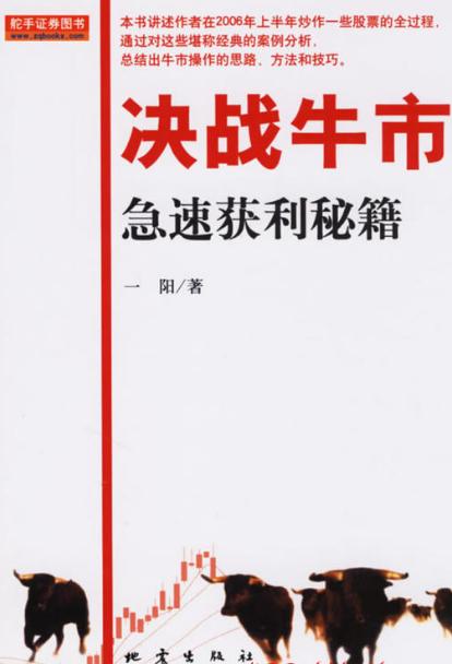 决战牛市 急速获利秘籍PDF电子书下载 作者 一阳