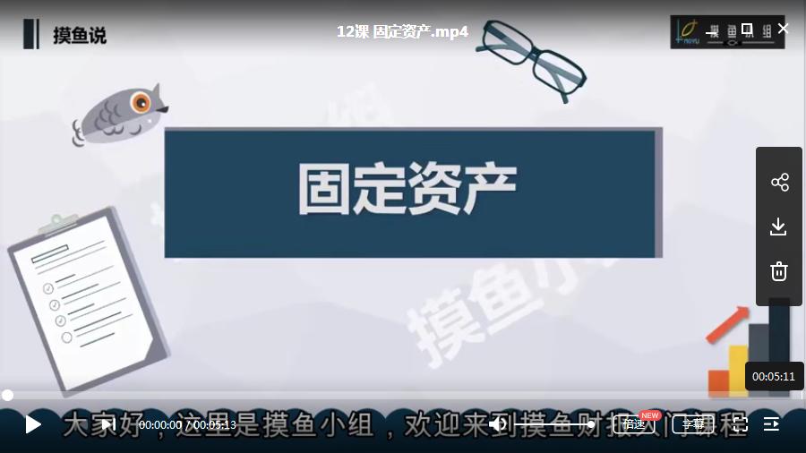 【摸鱼小组】财题报分析视频课程(44节)