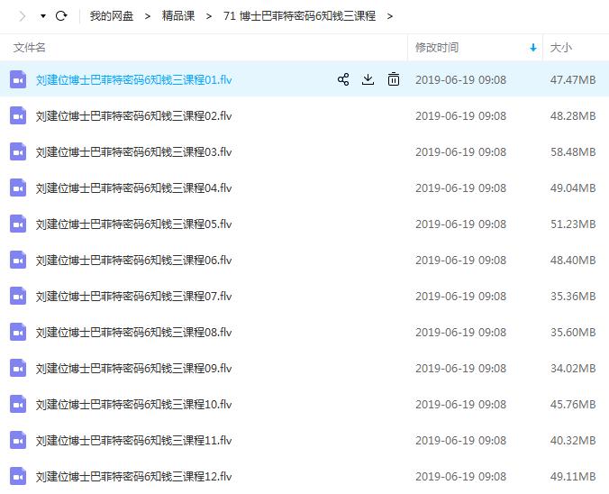 【刘建位】博士巴菲特密码6知钱三教程