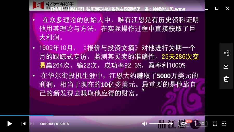 【博函】【品江恩】弘历网员培训系列专题课程8节视频