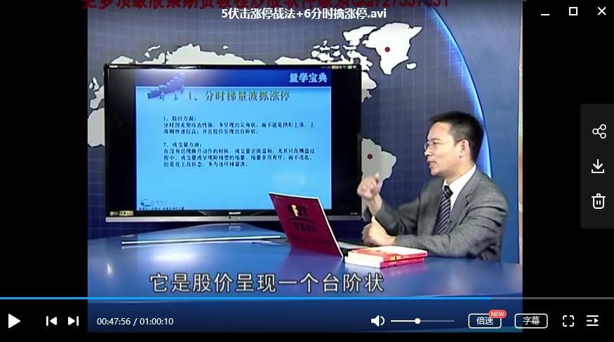 【吴振峰】量波抓涨停 成交量顶级培训视频课程(共4节)