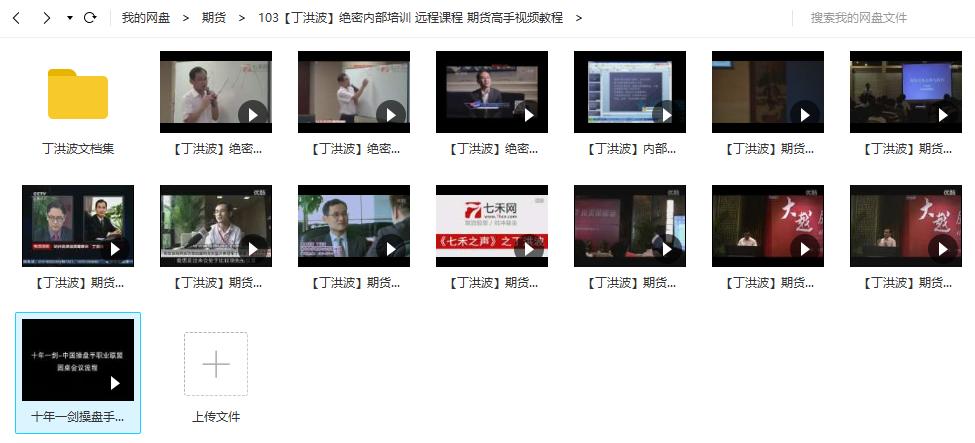 【丁洪波】绝密内部培训课程 期货高手视频全集视频教程