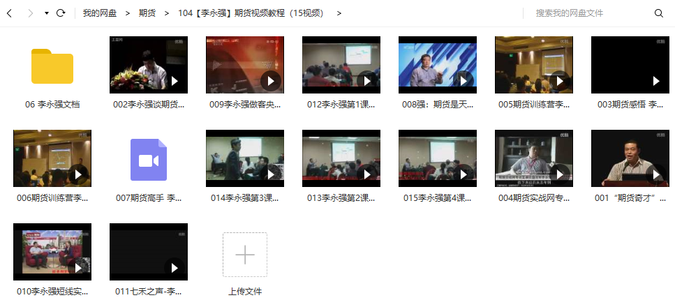 【李永强】期货视频培训课程(15视频+15文档)
