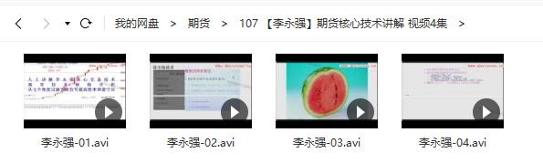 【李永强】期货核心技术 视频培训课程4节