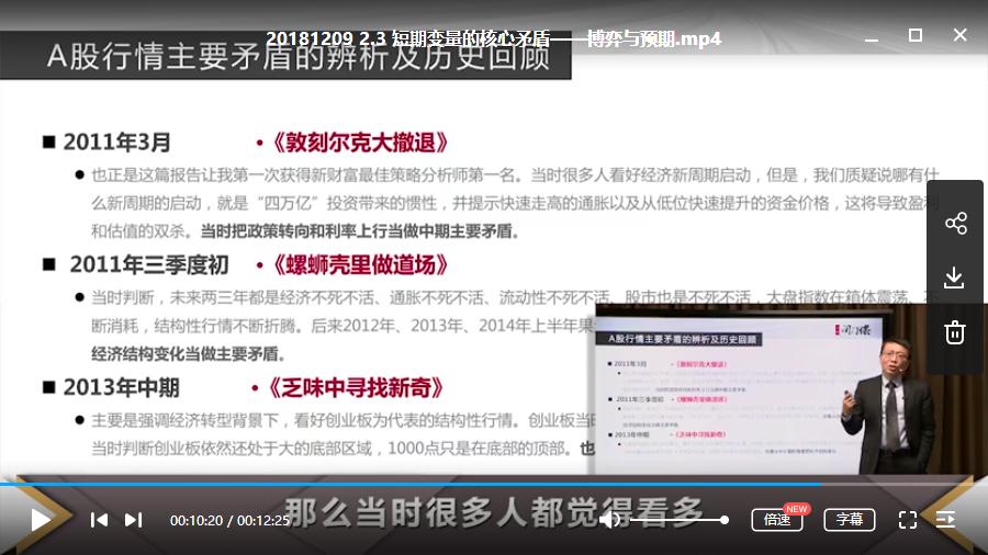 张忆东-《股市策略特训》大师课视频教学+课件