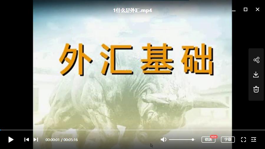 【吴楚波】新手应该如何认识外汇市场视频培训课程共7节