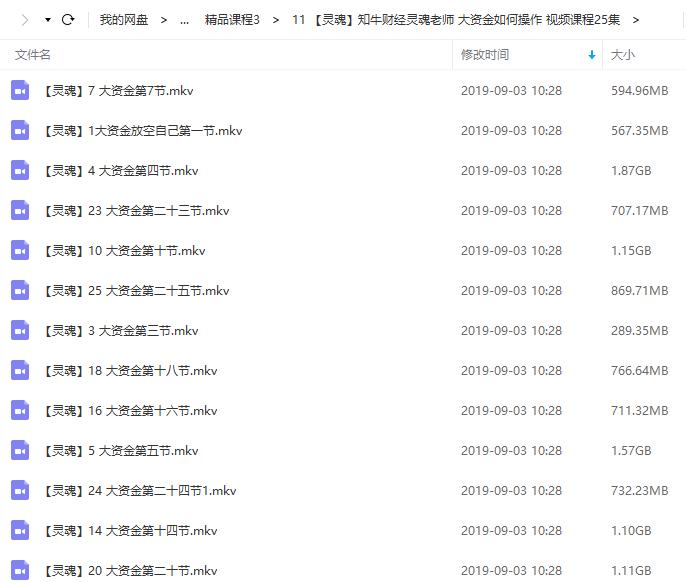 【知牛财经】灵魂老师 大资金如何操作 视频培训讲座课程25节