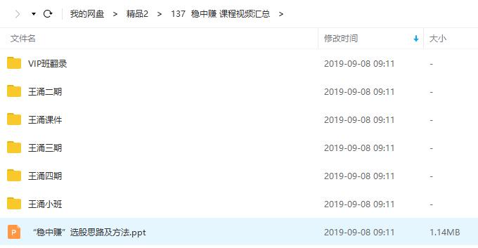 【知牛财经】王涌稳中赚视频培训大全