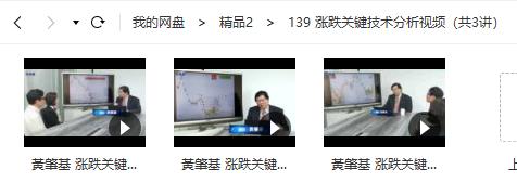 【黃肇基】 涨跌关键技术分析培训视频教学(共3讲)