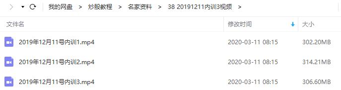 【月风先生】20191211股票投资机构内训(共3集视频)
