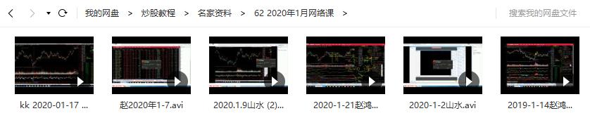 【赵鸿霖】赵泓霖缠论2020年1月网络视频教学(共6讲)