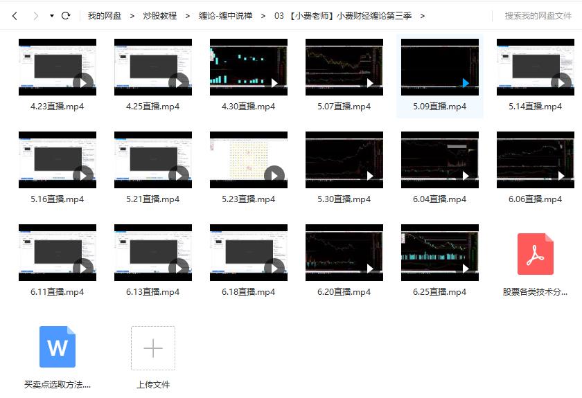 【小费老师】小费财经缠论课程第3三季视频培训(2019年共19讲视频)