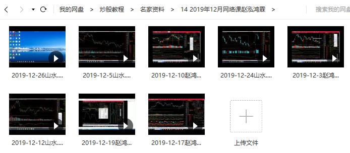 【赵鸿霖】赵泓霖缠论2019年12月网络课(2019年8讲视频)