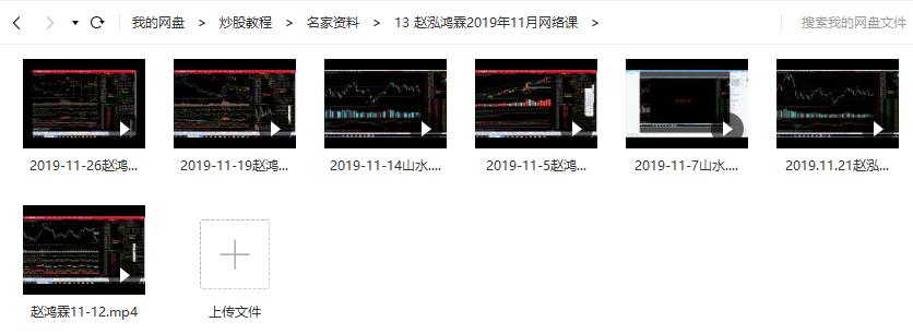 【赵鸿霖】赵泓霖缠论2019年11月网络课(7讲视频培训)