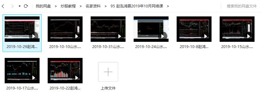 【赵鸿霖】赵泓霖缠论2019年10月网络课(8讲视频培训)