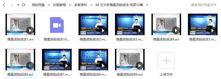 【文太彬】稳盈波段战法 视频培训课程10讲