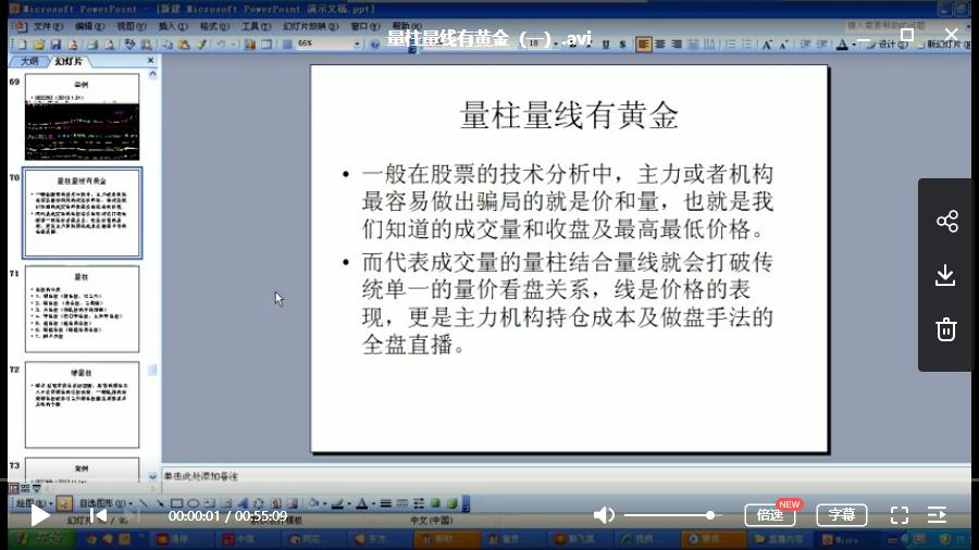 【胡任标】量柱量线 有黄金视频教程(共4节)