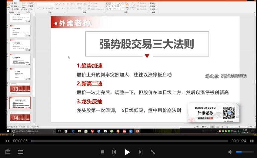 外滩孙哥锁定强势股 视频培训课程+PDF资料