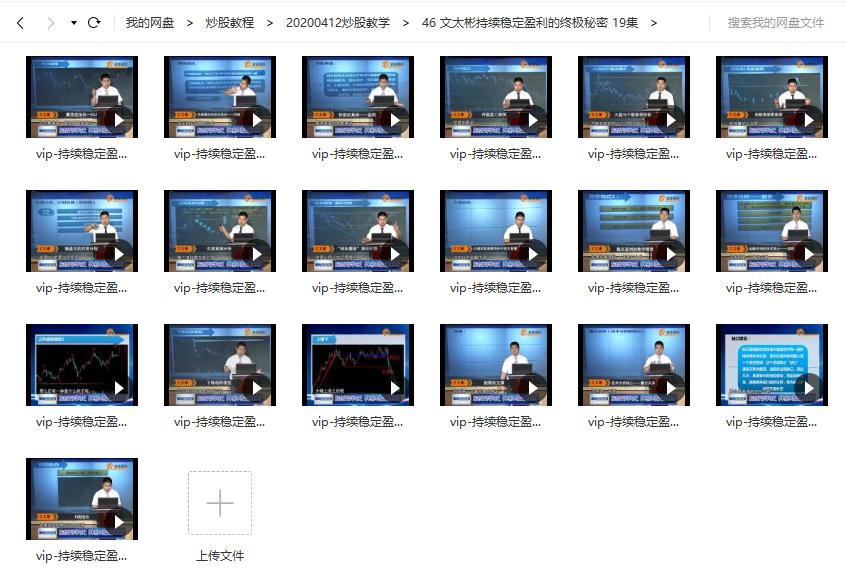 文太彬持续稳定盈利的终极秘密视频培训课程 (共19讲)