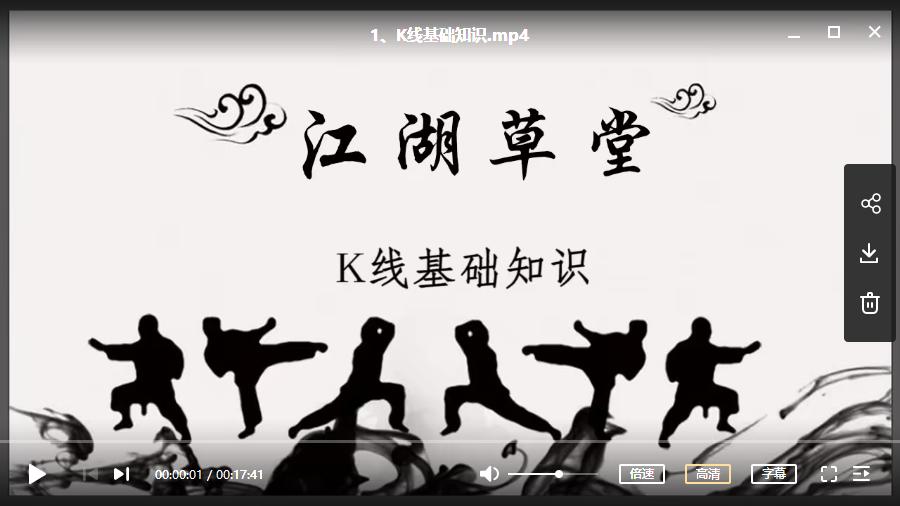 江湖学堂-股票指标视频培训教程(进阶阶段课)