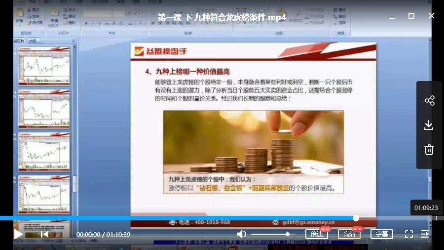 张淼 赢在龙虎榜 视频培训课程(共6讲)