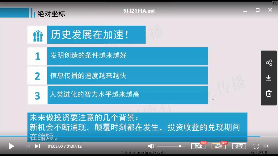陈杰  绝对收益的源泉 季度课 视频培训课程(4-6月)