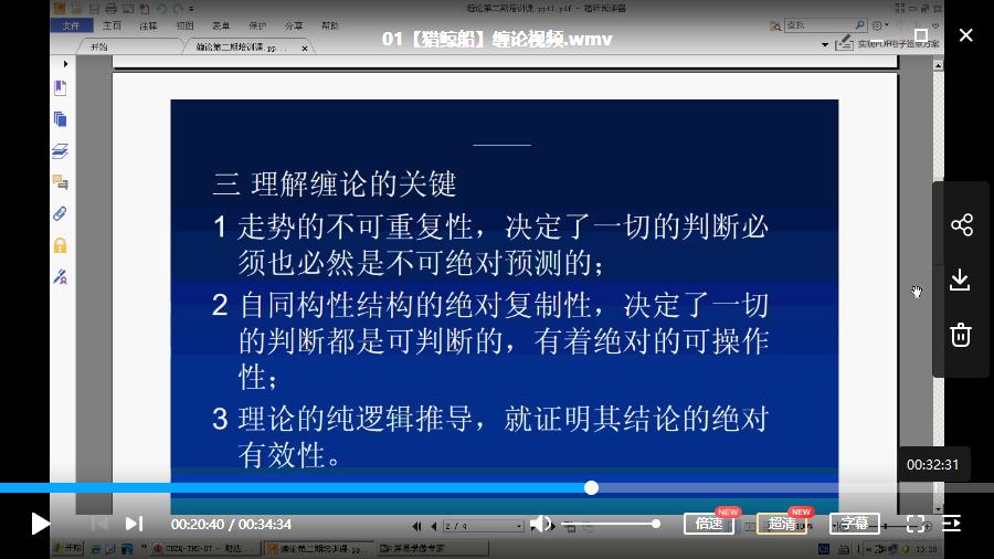 【猎鲸船】缠论视频培训课程(共30讲)