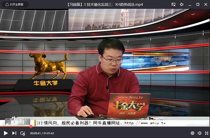 【冯国磊】点掌财经冯国磊 技术量化实战短线战法1-5期视频讲座+课件+指标