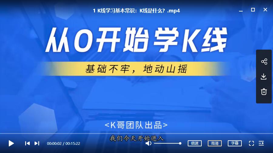 【狐狸老师】2020年K哥团队 A股视频课程 从0开始学K线视频培训讲座