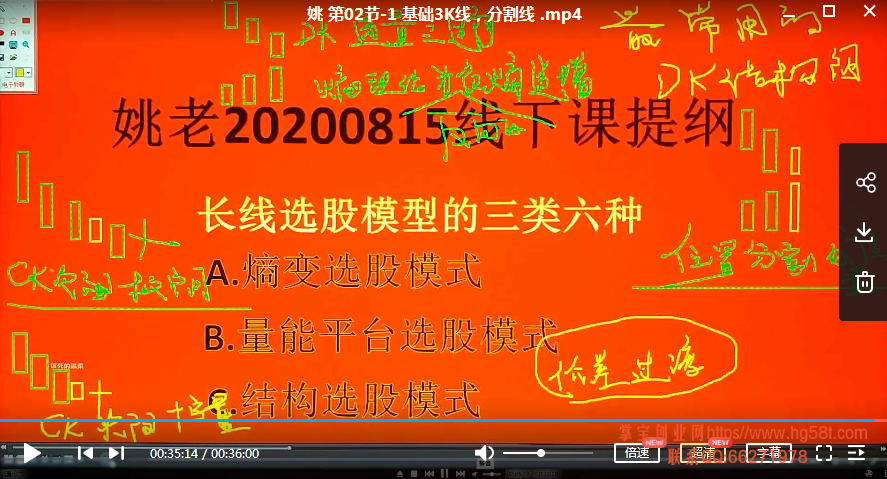 量学讲堂姚工视频2020年版8月线下特训班全集 共14讲视频课程