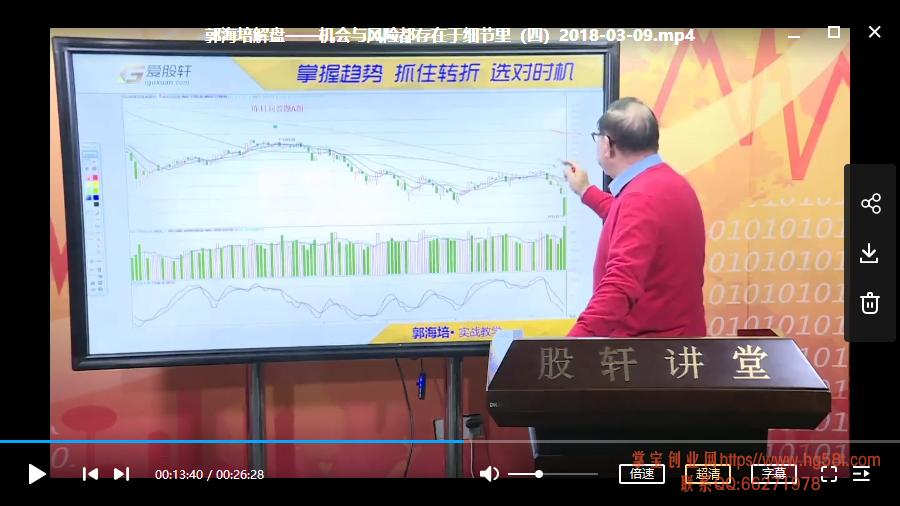 【郭海培】机会与风险都存在细节里视频培训课程