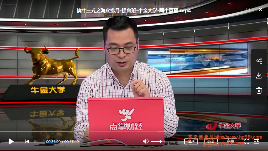 【牛金大学】杨殿方擒牛三式 视频培训课+指标