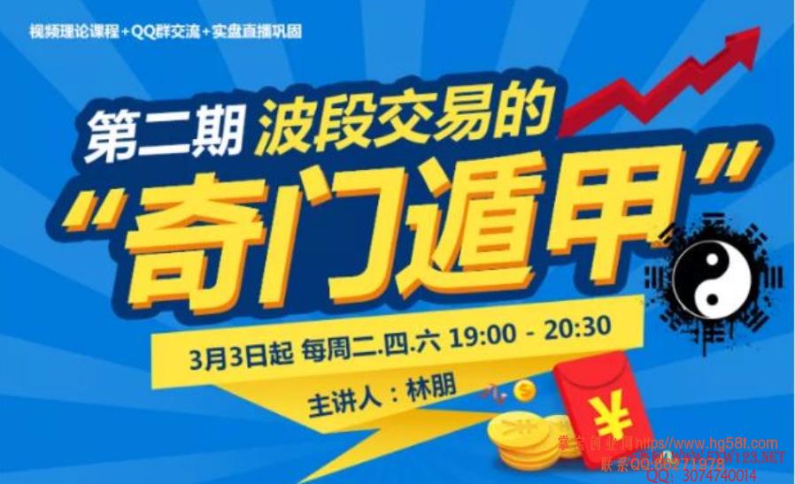 """【林朋】波段交易的""""奇门遁甲""""视频培训课"""