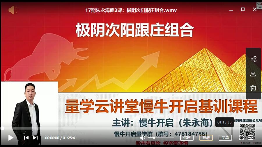 【朱永海】量学云讲堂第十七期 2020年