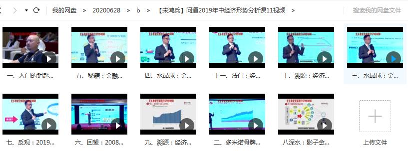 宋鸿兵问道2019年中经济形势分析课讲座11视频