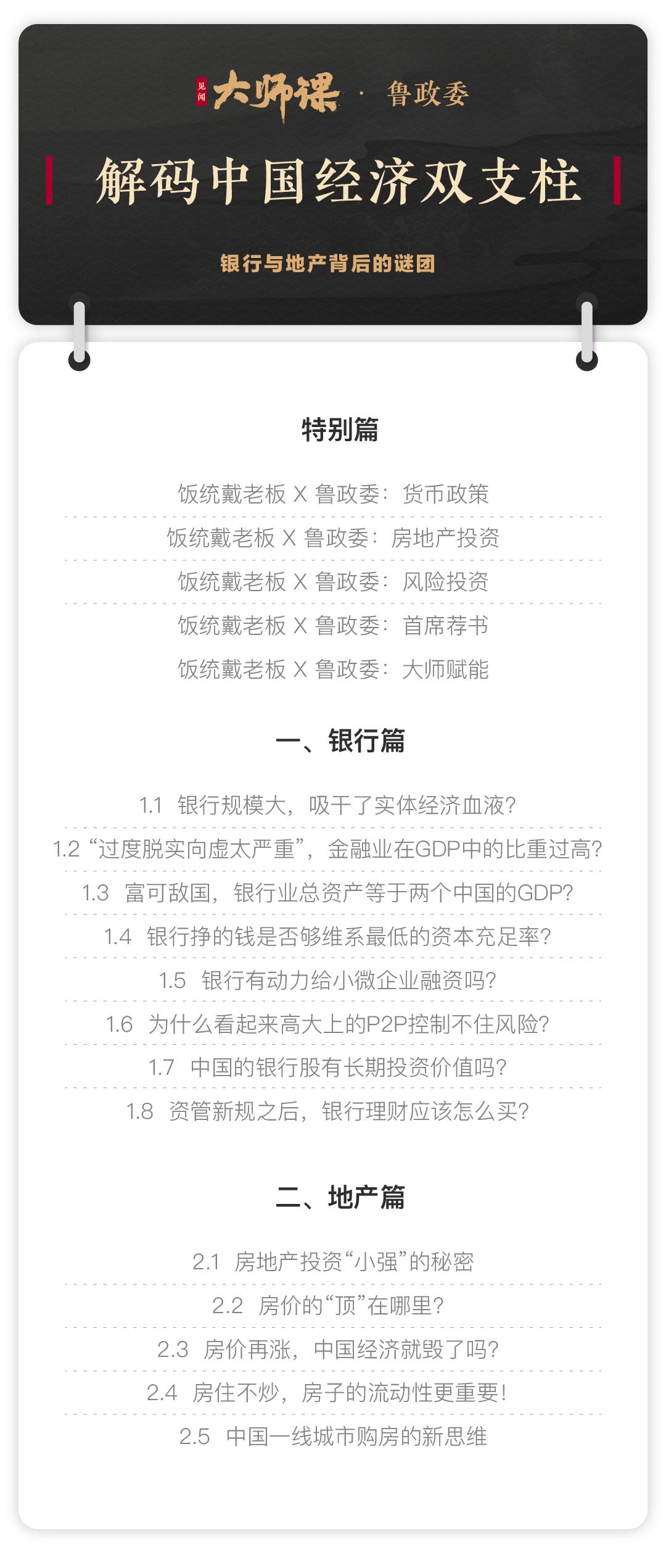 解码中国经济双支柱鲁政委 大师课