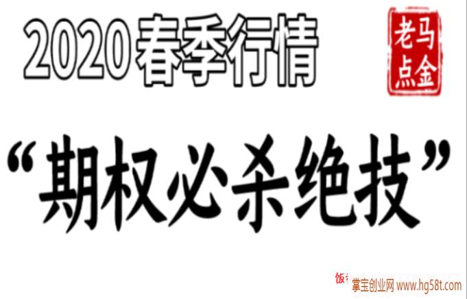 """老马点金《2020春季行情""""期权必杀绝技""""》视频8课"""