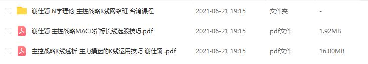 【谢佳颖】N字理论主控战略K线网络班 主力控盘实战操盘