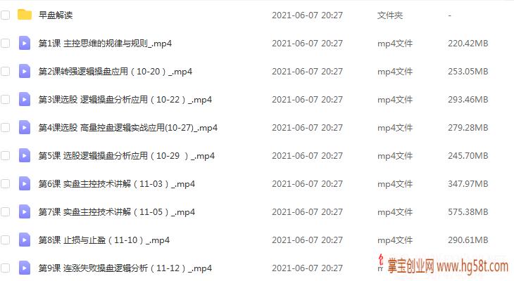 【姜灵海】42期必修课-归零启航主控实战操盘学2020年第10期